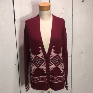 NWT Hollister Oversized Maroon Cardigan Size Small